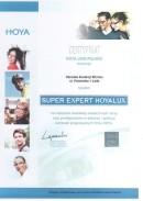 Certyfikat Hoya Lens Poland