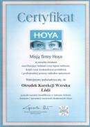 Certyfikat Hoya