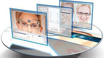 Wizualizacja klienta w wybranej przez niego oprawie okularów